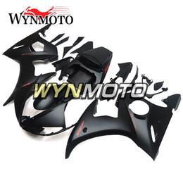 yamaha r6 corpo inteiro Desconto Full Body Kits ABS Plástico Motocicleta 2005 R6 Carenagens Para Yamaha YZF600 R6 YZF-600 2005 Injeção Cascos Carroçaria Plana Preto Cowlings