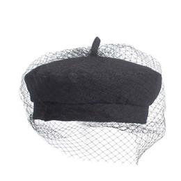 Boina Negra Com Malha Net, Marca 2018 New Fashion Mulheres Boinas, Streewear Caps New Show Chapéus Atacado de Fornecedores de uniformes de cozinha