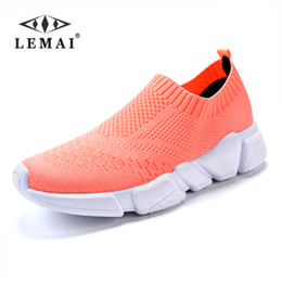 zapatos de malla súper transpirable Rebajas LEMAI Summer Athletic Sneakers para mujer transpirable Mesh Sport Shoes Mujer Outdoor Super Light Running Shoes