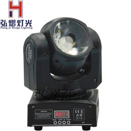 Wholesale Led Spot Club Lights - Wholesale- Hot 1pcs lot beam led moving head spot lighting with 4in1 rgbw leds Stages, night clubs, Disco, Hotels, shops effect