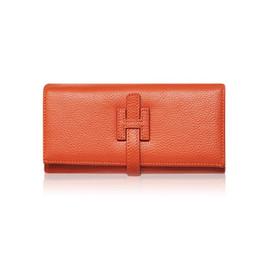 Billetera de dinero de lujo online-Al por mayor- Carteras de diseñador Famous Brand Women Wallet 2017 Monedero de lujo de las señoras de cuero genuino Monedero Monedero rojo cráneo de la cartera