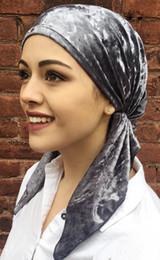 Nouveau mode femmes velours Pre Tied Fitted Turban Foulards de tête Chapeaux Chemo Hat Bandanas musulmans Jersey Hijab Turbante ? partir de fabricateur