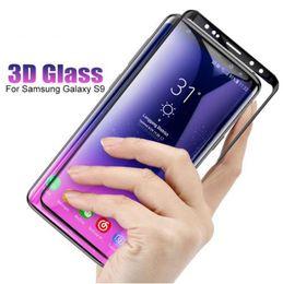 Protector de pantalla 3D Vidrio templado para Samsung Galaxy S10 Plus S 9 Estuche de película con borde curvo de cubierta completa para Galaxy S8 Note 8 Note 9 S7 Edge Glas desde fabricantes