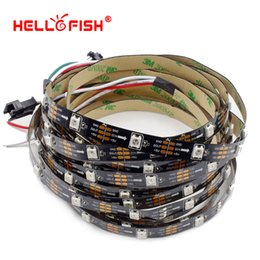 Wholesale Full Color Led Display - HELLO FISH 5V 1M Built-in WS2812B Full Color LED Strip,30 LED 30 pixels, Raspberry Pi Pixel matrix Display Arduino DIY Tape