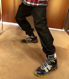 Wholesale Cuffed Men S - PRD Brand Casual Pants Bundle Cuff ASAP ROCKY Men Pant Black Solid Color Sweatpants Fashion Men Retro Pants Top Quality Pants HFWPKZ012