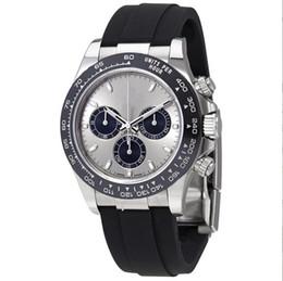 Égratignures en acier inoxydable en Ligne-Nouvelle marque de montres de luxe AAA + 116519LN Montre automatique en acier inoxydable résistant à la rayure des hommes cadran noir Bracelet en caoutchouc noir 40 mm avec boîte