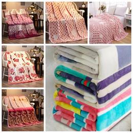 Wholesale Print Carpet - Kids Pet Blanket Printed blanket Air Conditioning blanket Comfortable Carpet Rugs Soft Beach Towel Blankets blankets KKA3984