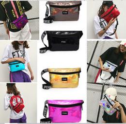 Wholesale translucent fashion - Pink Waist Bag laser Beach Travel Fanny pack Transparent handbag Translucent Fashion Girls Purse Belt Bags sports Outdoor Cosmetic Bags