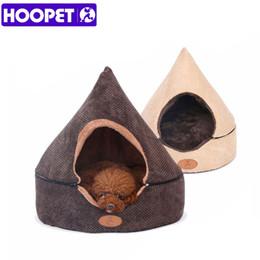 Almofadas de tenda on-line-HOOPET Pet Dog Cat Tent Casa Todas As Estações Dirt-resistant Macio Yurt Cama com Dupla Face Almofada Lavável