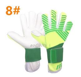 Wholesale top quality gloves - Luxury Brand Logo Professional Soccer Goalkeeper Gloves High Quality Finger Ptotection Top Latex football Goalie Gloves for Men 5MM Latex