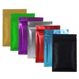sacos ziplock vermelhos Desconto Pacote De Ziplock De Selagem De Calor Saco De Folha De Alumínio Mylar Zip Bloqueio Sacos De Prata / Ouro / Preto / Vermelho / Azul / Roxo / Verde