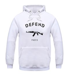 Wholesale fashion house clothes - Hot Style DEFEND PARIS Men Clothing High Quality Hoodie Sweatshirt Fashion House Jacket AK47 Print Long Sleeve Cotton Hip Hop Skateboa CP19