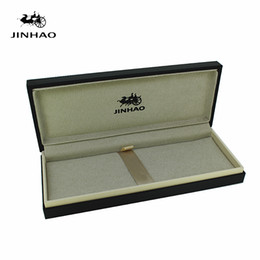 Wholesale Wooden Pencil Cases - Jinhao Black Noble Original Wooden Pen Box for Fountain Pen No Include The