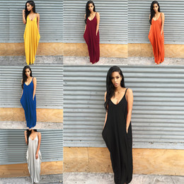 Wholesale ladies cotton tank tops - Women Maxi Dress Vest Crop Tank Top 2018 Summer Bodycon Dress Casual Sexy Fashion Club Vest Tank Party Skirt Lady World Cup Clothing