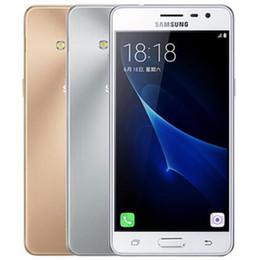 Double téléphones mobiles pas cher en Ligne-Samsung Galaxy Remis à neuf d'origine Pro J3110 J3 Dual SIM 5.0 pouces Quad Core 16 Go ROM bon marché 4G LTE mobile Android Téléphone gratuit DHL 1pc