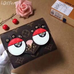 Wholesale cute lock key - M67244 LADY CANVAS CUTE BIRD VICTORINE WALLET PURSE BAG wallet purse Belt Bags Mini Bags Clutches Exotics