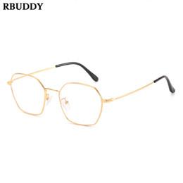 31256aed1 falsas gafas de las mujeres Rebajas Vintage Metal Mujeres Plano Espejo Gafas  Transparentes Marco Gafas Falsas
