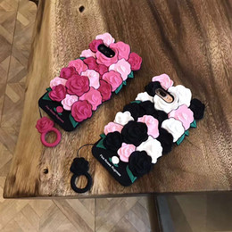 Wholesale 3d Rubber Phone Cases - Rubber silicone rose flower case for iPhone X 8P 8 7 6S Plus 3D phone Coque back case cover Luxury Valentine Gift