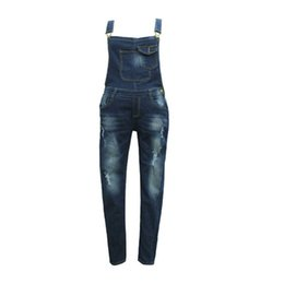 fae422ce95c0 H 2017 Autumn New Women s High Waist Jeans Ripped Jeans Women Jumpsuit  Overalls Pants Denim Bib Pants Europe America Trendy