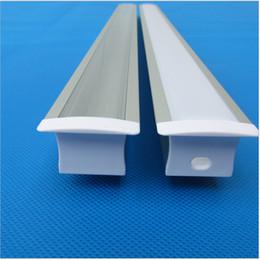 Wholesale Profiles Aluminium - 25pcs of 2m led aluminium profile with milky cover for 20mm pcb 30.5*20