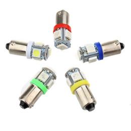 bajonettlampe Rabatt BA9S 5050 5SMD 1,2 Watt 6500 Karat 70LM 12 V Instrumentenlampe Kfz-LED-Kennzeichenbeleuchtung 12 V Bajonett LED-Lampen