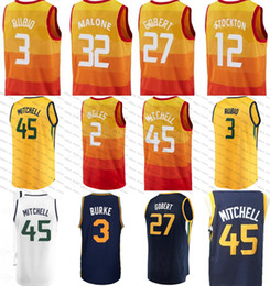 Wholesale m jazz - Youth Men Utah 45 Donovan Mitchell Jazz 10 Demar DeRozan 3 Ricky Rubio Jersey 27 Rudy Gobert 7 Kyle Lowry 2 Joe Ingles 32 Malone 12 Stockton