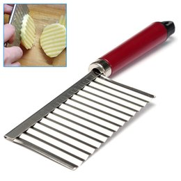 Wholesale Chinese Knives Wholesale - Hot Kitchen Frech Fry Potato Slicer Cutters Stainless Steel Potato Chips Cut Kitchen Knife Slicers Cooking Tools Vegetable Carrot Chip Blade