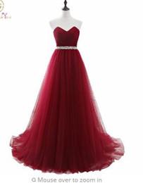 Imágenes Vestido Elegante Mujer para Boda Vestidos largos de novia Borgoña Vino de la tarde Una línea vestidos mae de noi desde fabricantes
