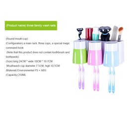 Wholesale Tooth Brush Toothpaste - Sucker wall type toothbrush holder Wall hanging Brush cup Tooth brushing cup Toothpaste holder A tooth box Dental kit