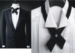 Wholesale Unique Performances - New 2016 Tuxedo Bow tie Unique Cross tie bow men and women host MC performance 6 color LD8005
