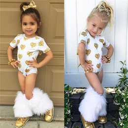Wholesale High Neck Baby Bodysuit - Ins Baby Rompers Girls Summer Jumpsuits Cartoon Heart Bow Backless Short Sleeved Bodysuit For Kids Clothing High Quality Free DHL 647
