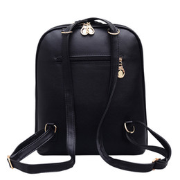 Wholesale Green Ribbon Schools - Free Shipping 2018 Hot New Arrival Fashion Women School Bags Hot Punk Style Men Backpack Designer Backpack Pu Leather Lady Bags 9862