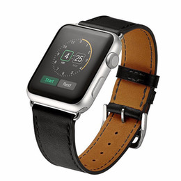 Wholesale leather replacement straps - Luxury High Quality Genuine Leather Bracelet Straps Single Tour Replacement Watchband For Apple Watch Band Sport Series 3 2 1 38mm 42mm
