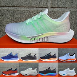 1e22399d21071 2019 New Zoom Pegasus Turbo 35 OFF Running Shoes Womens Mens White Pink  Barely Grey React X Athletic Trainers Sneakers Zapatillas 36-45