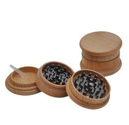 Wholesale milling wood machine - Wood smoke grinder diameter 63mm grinding machine, wood color metal 3 layer smoke mill.