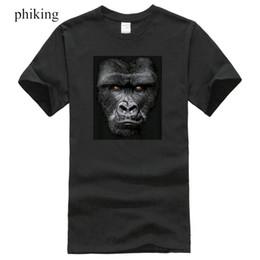 8cbca45c Lächerlich Shirts drucken Männer Majestic Gorilla lustige Tier T-Shirt Big  In Ihrem Gesicht Silber Back Tee Rundhalsausschnitt Kurzhülse T-Shirt