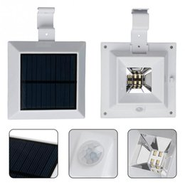 Wholesale Outdoor Balcony Wall Lamp - Solar lights 4LED 6LED sink fence lamp eaves lamp corridor balcony induction outdoor wall