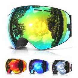 Wholesale double lens ski goggles - COPOZZ brand professional ski goggles double layers lens anti-fog UV400 big ski glasses skiing snowboard men women snow goggles