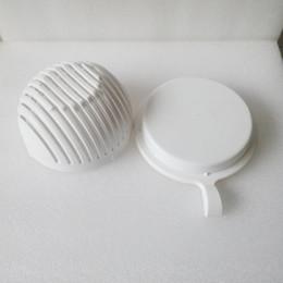 2019 weiße küchengerichte Salatschneider Schüssel gesund frisches Gemüse Obst geschnitten Schalen Kunststoff weiße Schale machen einfach in 60 Sekunden Quick Kitchen Maker Tools 8 2mw1 günstig weiße küchengerichte