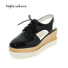 Wholesale Platform Size 32 - 32~43 Big Size Summer Woman Platform Sandals Fashion Women Soft Leather Casual Silver Gold Gladiator Wedges Women Shoes H19