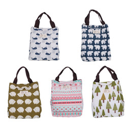 Wholesale Garage Cooling - Lunch Box Hedgehog Whale Bear Pattern Portable Insulated Thermal Cooler Food Storage Containers Carry Bag Travel Picnic Handbags