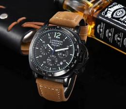 Beste verkaufende Qualität und schöne Mode wasserdichte laufende Sekunden Uhr Uhr 45mm klassische Herrenuhr berühmten männlichen Uhr von Fabrikanten