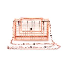 Homeda женщины сумка металлические сетчатые сумки розовое золото сетки сетки клетка сцепления женщин одной цепи сумка женский сцепления сумки посыльного supplier rose net от Поставщики розовая сетка