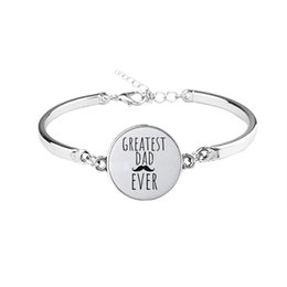armband schreiben Rabatt GB15 schreiben größte Vater jemals Frauen 925 Silber Armband senden mit Beutelgröße ca. 17cm Frauen Schmuck