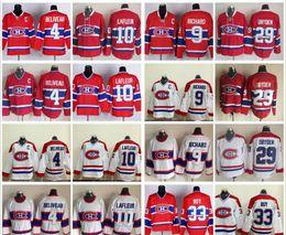 Wholesale hockey jersey guy lafleur - Throwback Montreal Canadiens Hockey Jersey 4 Jean Beliveau 9 Maur Richard 10 Guy Lafleur 29 Ken Dryden 33 Patrick Roy Vintage Classic Jersey