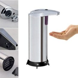 Wholesale Dispensers For Soap - 280ml Automatic Touchless Soap Dispenser Fingerprint Resistant Liquid Infrared IR Sensor Soap Dispenser for Bathroom CCA8450 10pcs