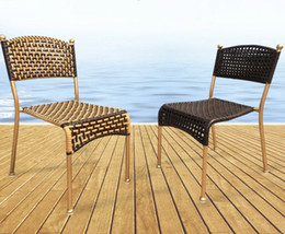 Wholesale Outdoor Rattan Sofas - Outdoor Rattan Chair Sofa Furniture Set Outdoor Garden Terrace Rattan Chair Fashion Creative Leisure Wicker Furniture LLFA
