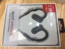 Auricular de la oreja de la caída del deporte online-Hot Wireless Sports Bluetooth Headset Earphone Ear Hanging Stereo Binaural Headphones con transmisión de voz para iPhone Sumsang Huawei Xiaomi