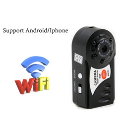 Wholesale Camera Pc Portable - Mini Portable Camera WiFi Network Camera Indoor Outdoor HD DV Video Recorder With Night Vision Security For Smartphone iPad PC Remote View