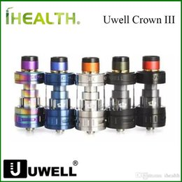 подлинные резервуары Скидка 100% Аутентичный Uwell Crown 3 Бак распылителя 5 мл Sub Ohm Бак легче и чище для клиентов, чтобы пополнить быструю доставку